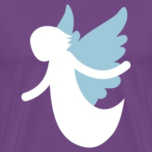 Purple angel flying with open arms T-Shirts - Men's Premium T-Shirt