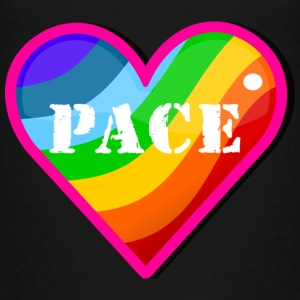 Black pace rainbow heart (DDP) Toddler Shirts - Toddler Premium T-Shirt