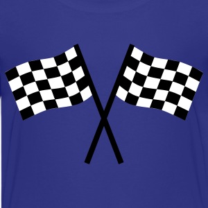 Royal blue Racing flag Kids' Shirts - Kids' Premium T-Shirt
