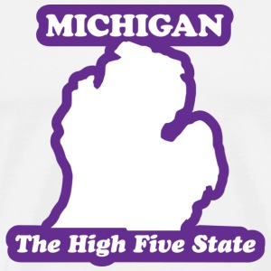 Michigan - The High Five State T-shirt - Men's Premium T-Shirt