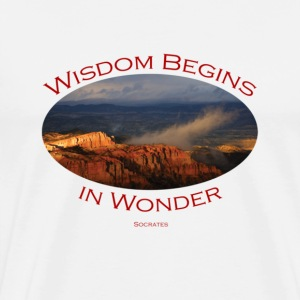 Bryce Canyon, Wisdom by Socrates - Men's Premium T-Shirt