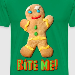 Bite Me Gingerbread Man T-Shirts - Men's Premium T-Shirt