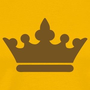 Gold KINGS CROWN prince princess or Queen T-Shirts - Men's Premium T-Shirt