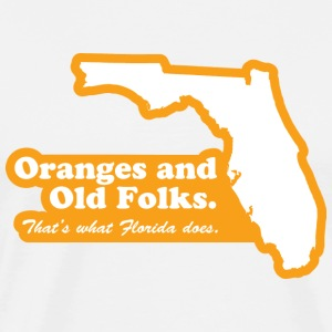Florida - Oranges and Old Folks T-shirt - Men's Premium T-Shirt