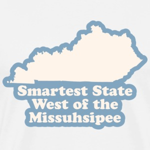 Kentucky - Smartest State West of the Missuhsipee T-shirt - Men's Premium T-Shirt