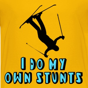 Skiing I Do My Own Stunts Kids' Shirts - Kids' Premium T-Shirt