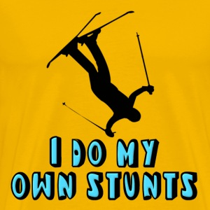 Skiing I Do My Own Stunts T-Shirts - Men's Premium T-Shirt