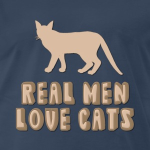 Real Men Love Cats Design For Dark Colors T-Shirts - Men's Premium T-Shirt