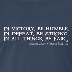 HU Lee quote - Men's Premium T-Shirt