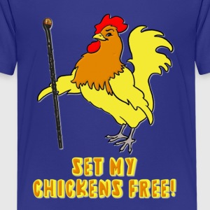 Set My Chickens Free! -- Moses Rooster PETA Kids' Shirts - Kids' Premium T-Shirt
