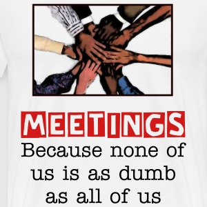 Cost Of Meetings Men's T-Shirt With Image - Men's Premium T-Shirt