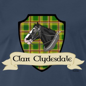 Navy clan clydesdale shield T-Shirts - Men's Premium T-Shirt