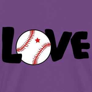 Purple LOVE BASEBALL T-Shirts - Men's Premium T-Shirt