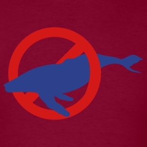 Burgundy NO HUMPBACK WHALES WHALE WHALING T-Shirts - Men's T-Shirt