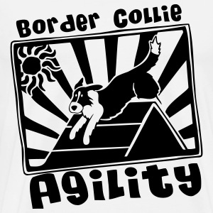Border Collie Agility - Men's Premium T-Shirt