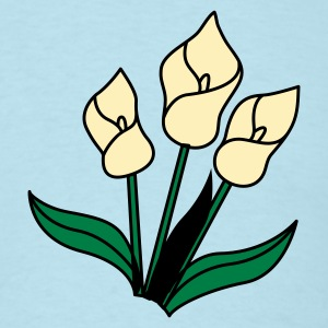 Sky blue white lily flowers for remembrance T-Shirts - Men's T-Shirt