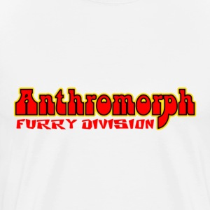 White Anthromorph Furry Division Furries T-Shirts - Men's Premium T-Shirt