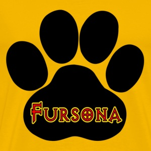 Yellow Fursona Furries Furry T-Shirts - Men's Premium T-Shirt