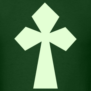 Forest green another funky cool gothic cross celtic T-Shirts - Men's T-Shirt