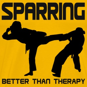 SPARRING : BETTER THAN THERAPY - Men's Premium T-Shirt