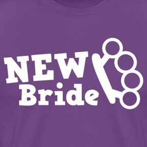 Purple new bride with knuckleduster tough chick T-Shirts - Men's Premium T-Shirt