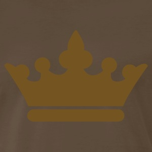 Brown KINGS CROWN prince princess or Queen T-Shirts - Men's Premium T-Shirt