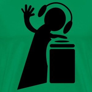 Kelly green DJ decks Hi Five T-Shirts - Men's Premium T-Shirt