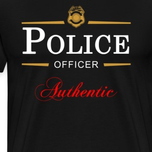 Authentic Police Officer - Men's Premium T-Shirt