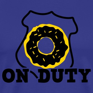 on duty police shield and doughnut T-Shirts - Men's Premium T-Shirt