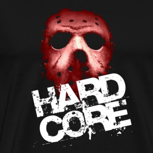 Black Hardcore Mask T-Shirts - Men's Premium T-Shirt