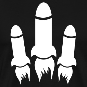 three rockets T-Shirts - Men's Premium T-Shirt