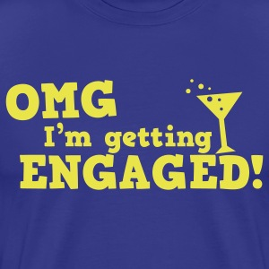 omg im getting engaged with coaktail glass marriage T-Shirts - Men's Premium T-Shirt