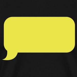 speech bubble roundy T-Shirts - Men's Premium T-Shirt