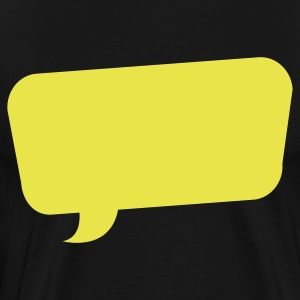 speech bubble funky turned T-Shirts - Men's Premium T-Shirt