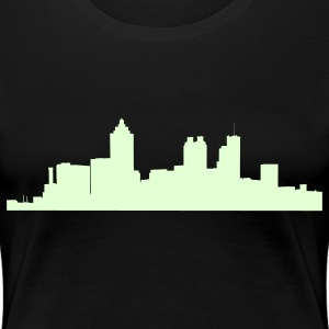 Black atlanta_skyline Plus Size - Women's Premium T-Shirt