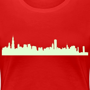 Red chicago_skyline Plus Size - Women's Premium T-Shirt