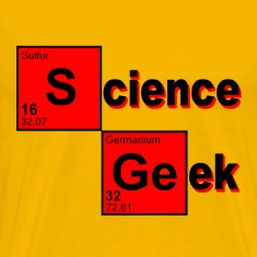 Gold Science Geek T-Shirts