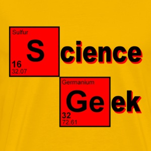 Gold Science Geek T-Shirts - Men's Premium T-Shirt