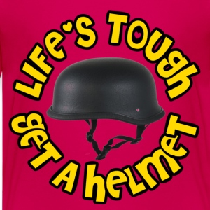Hot pink Life's Tough Get A Helmet Kids' Shirts - Kids' Premium T-Shirt
