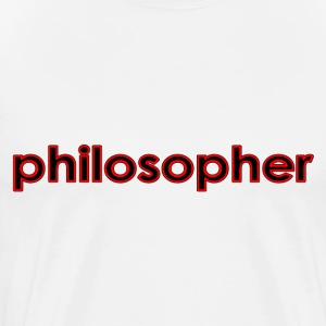 White Philosopher T-Shirts - Men's Premium T-Shirt