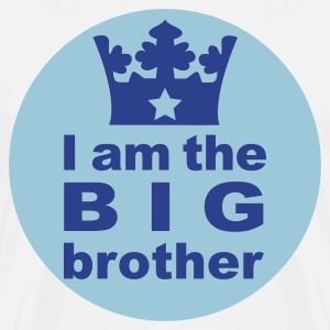 White I am the big Brother T-Shirts - Men's Premium T-Shirt