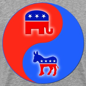 Republican Democrat Yin Yang T-Shirts - Men's Premium T-Shirt