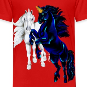 Two Unicorn STallions - Toddler Premium T-Shirt