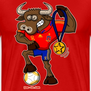 Spain's Soccer World Cup Champion Bull - Men's Premium T-Shirt