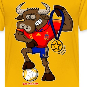 Spain's Soccer World Cup Champion Bull - Kids' Premium T-Shirt