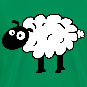 Kelly green Sheep T-Shirts - Men's Premium T-Shirt