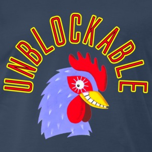 Navy Unblockable Cock Block T-Shirts - Men's Premium T-Shirt