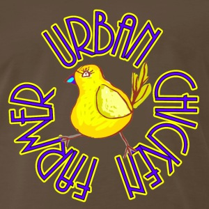 Brown Urban Chicken Farmer T-Shirts - Men's Premium T-Shirt