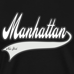 manhattan new york white T-Shirts - Men's Premium T-Shirt