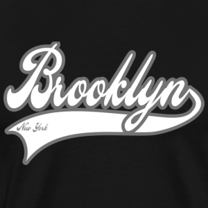brooklyn new york white T-Shirts - Men's Premium T-Shirt
